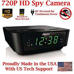 clock radio camera spy device