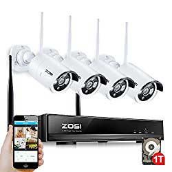 wireless security cameras with DVR